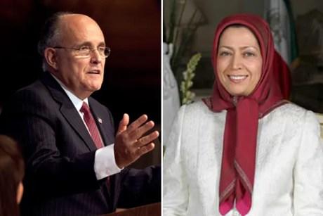Rudy Giuliani and Maryam Rajavi