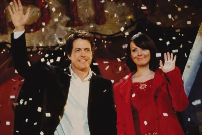 Hugh Grant and Martine McCutcheon fall in love in Richard Curtis romcom Love Actually