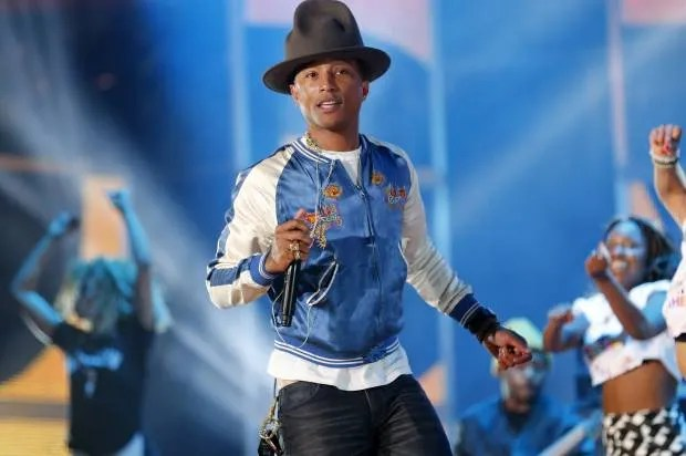 """Pharrell performs """"Happy"""" at Wal-Mart meeting though workers are anything but"""