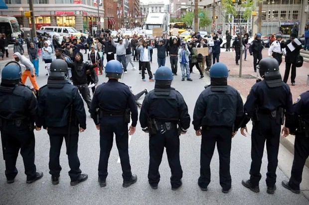 """""""This is why the police have militarized"""": Conservatives respond to Baltimore riots"""