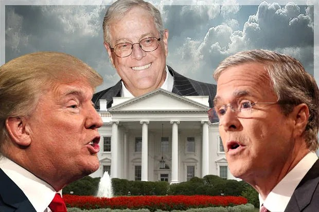 Jeb must slay Trump and devour his soul: The mind-bending Koch master plan behind the GOP clown show