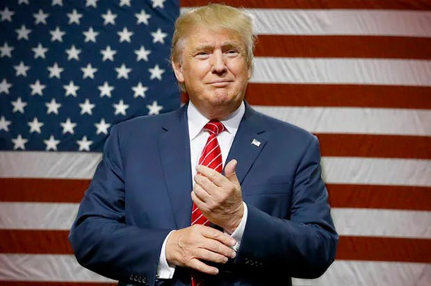 Image result for trump usa flag