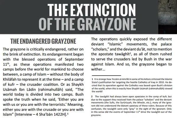 An excerpt from ISIS' own publication (Credit: Iyad El-Baghdadi)