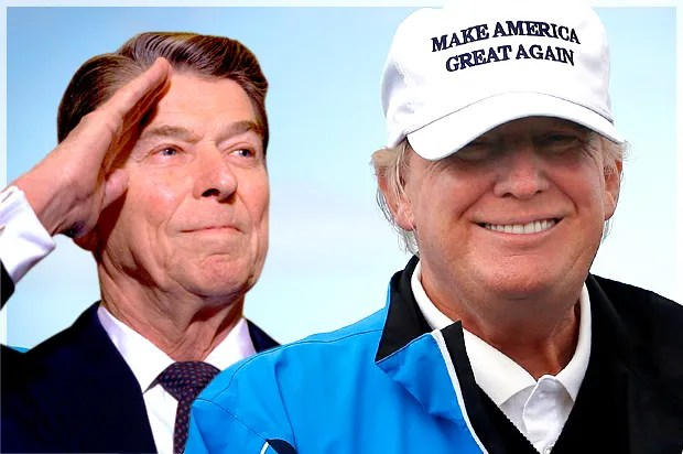 Donald Reagan y Donald Trump