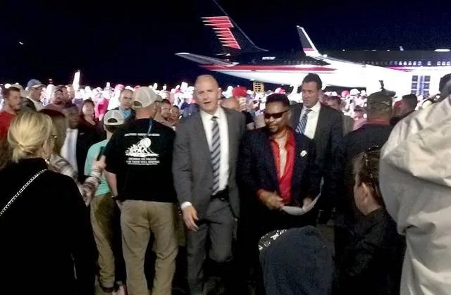 Image result for black man called a thug at trump rally