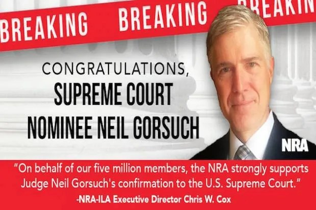 NRA's million dollar Supreme Court bet: Gun lobby to spend big on Neil Gorsuch