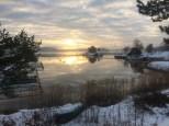 Morgon vid Baggensfjärden