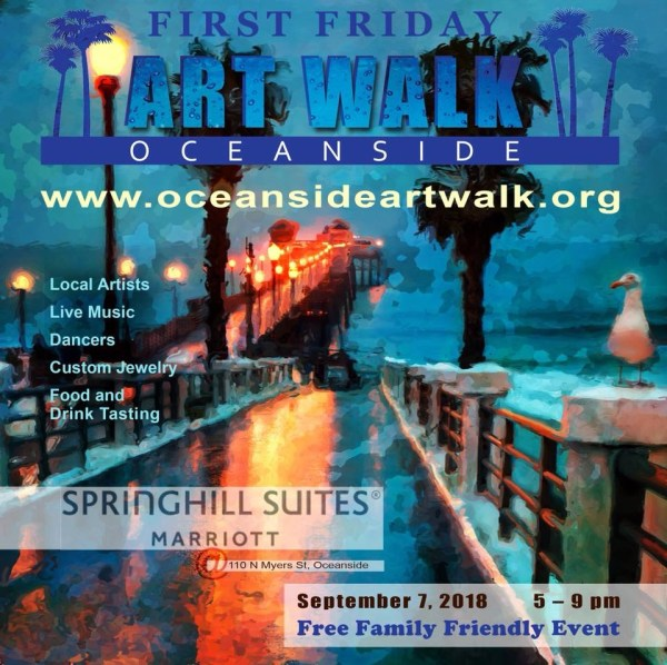 Friday Art Walk Oceanside - September 7 2018 5 . 9 San Diego Reader