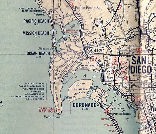 Mapmakers did the best they could during WWII  San Diego