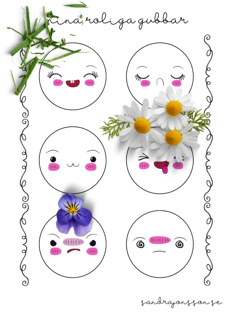 roliga figurer blommor