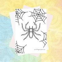 Måla en enkel spindel