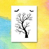 Mall för att sätta färg på ett spökträd