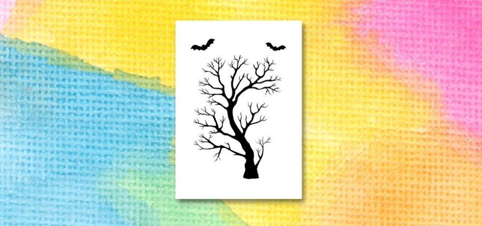 mall för att göra spökträd