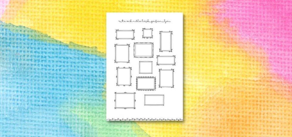 printable för att rita och måla läskiga familjen