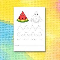 Printable för att spåra linjer i vattenmelon