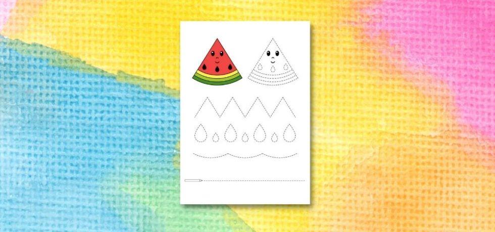 printable för att spåra linjer i vattenmeloner