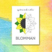 Printable för att spåra och måla en blomma 2