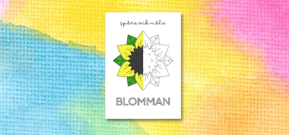printable för att spåra och måla blomma
