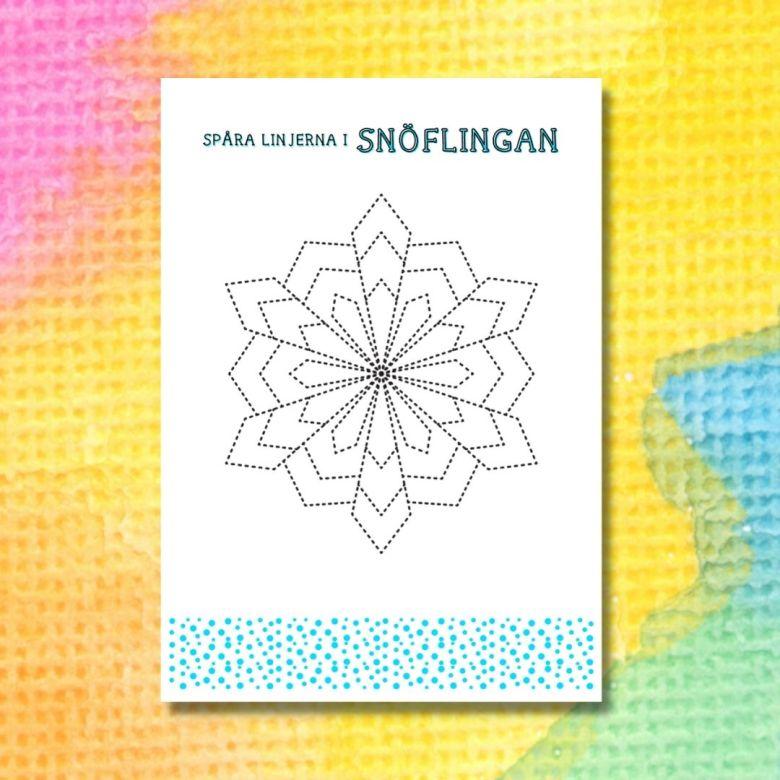 printable för att spåra snöflingorna