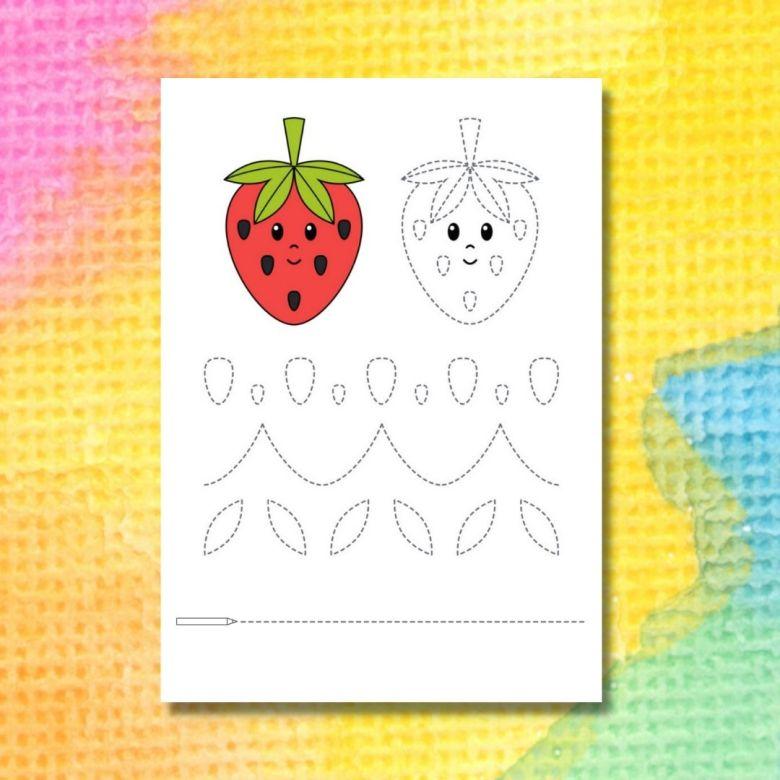 spåra linjerna i jordgubben