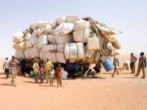 Chadian immigrants in the Libyan desert (Photo: EU Humanitarian Aid and Civil Protection)