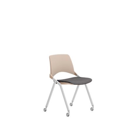 chaise empilable key ok leyform siege pliant 4 pieds avec roulettes avec accoudoirs noir noir