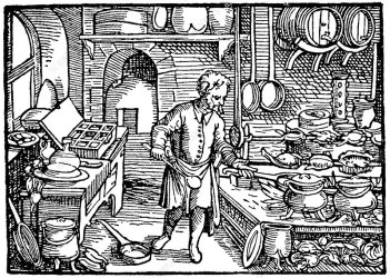 Medieval Kitchen Stock Image C044/4323 Science Photo Library