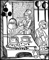 Medieval Kitchen Stock Image C044/4324 Science Photo Library