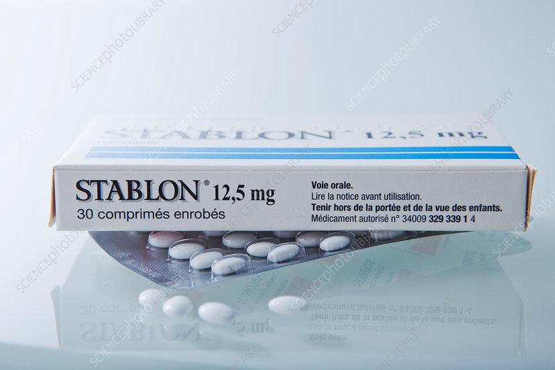Tianeptine antidepressant drug - Stock Image - C014/2176 ...