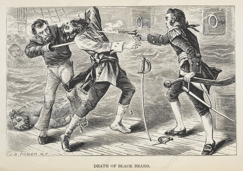 Death of Black beard - Stock Image - C019/2673 - Science Photo Library