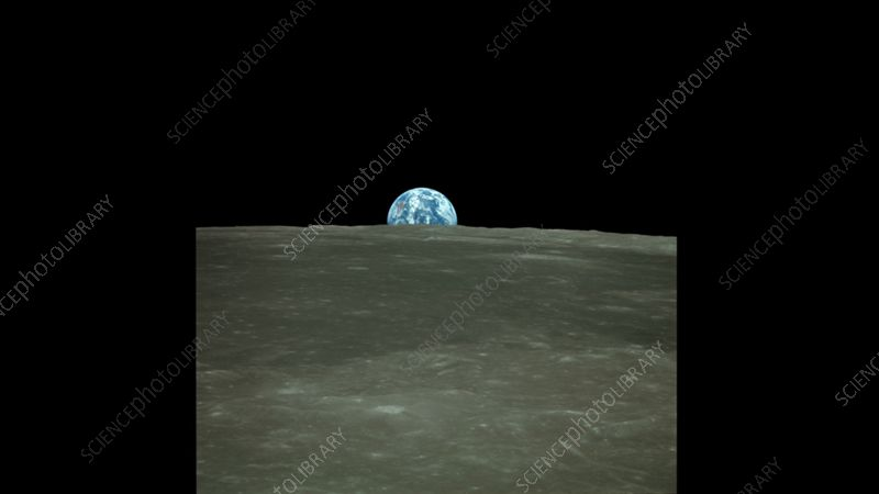 Earthrise from Apollo 11. image sequence - Stock Video Clip - K009/0818 - Science Photo Library