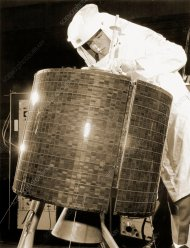 Early Bird communications satellite, 1965 - Stock Image - S710 ...
