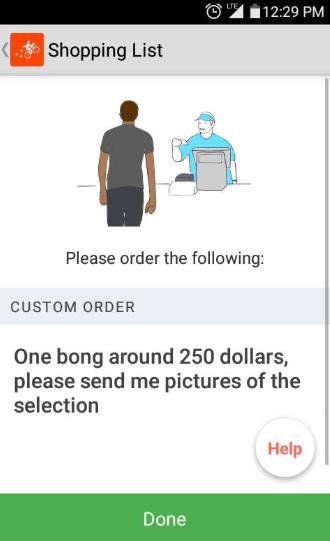 bong order stoners postmates