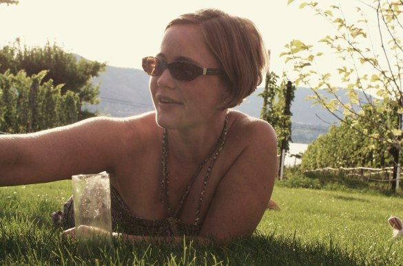 Heidi Noble. If she wasn't a chef, cookbook author and winemaker, she'd be a film star...