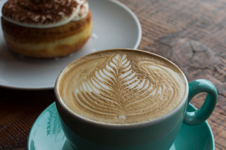 49th Parallel Coffee Roasters & Lucky's Doughnuts - Scout ...
