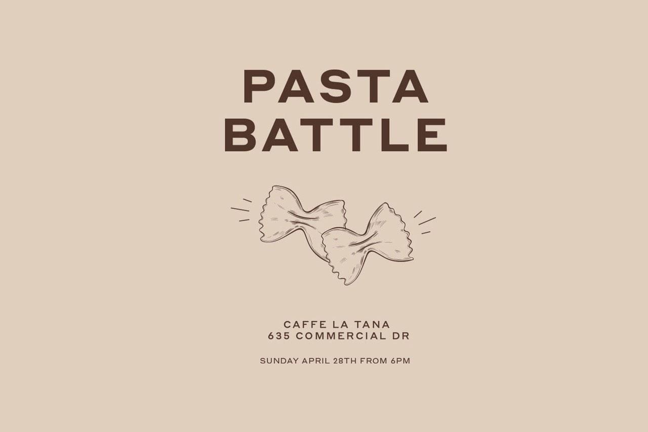 Flourist Pasta Battle Set for April 28 at Caffe La Tana