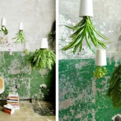 Chair Upside Down On Wall Patterned Club Chairs Diy Pet Bottle Planter Scraphacker Planters