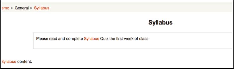 Student Viewing Syllabus