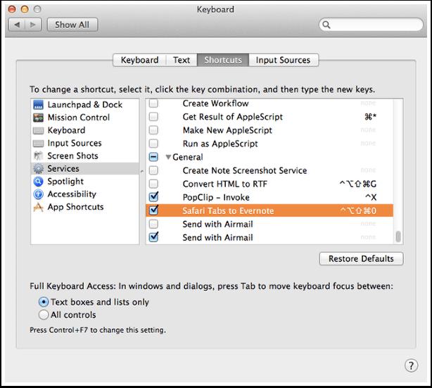 Set Keyboard Shortcut