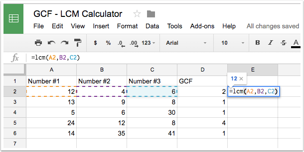 Step 6 - Calculate the LCM