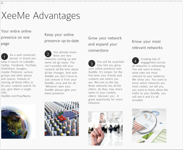 Xeeme Advantages