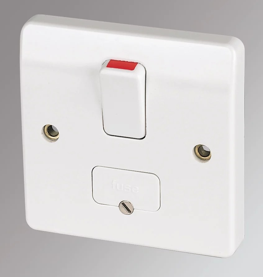MK 13A DP Switched Fused Connection Unit with Flex Outlet