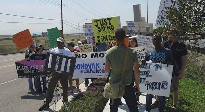 Donovan Prison rally