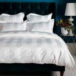 Luxury 600 Thread Count White Stripe Duvet Cover Egyptian Cotton
