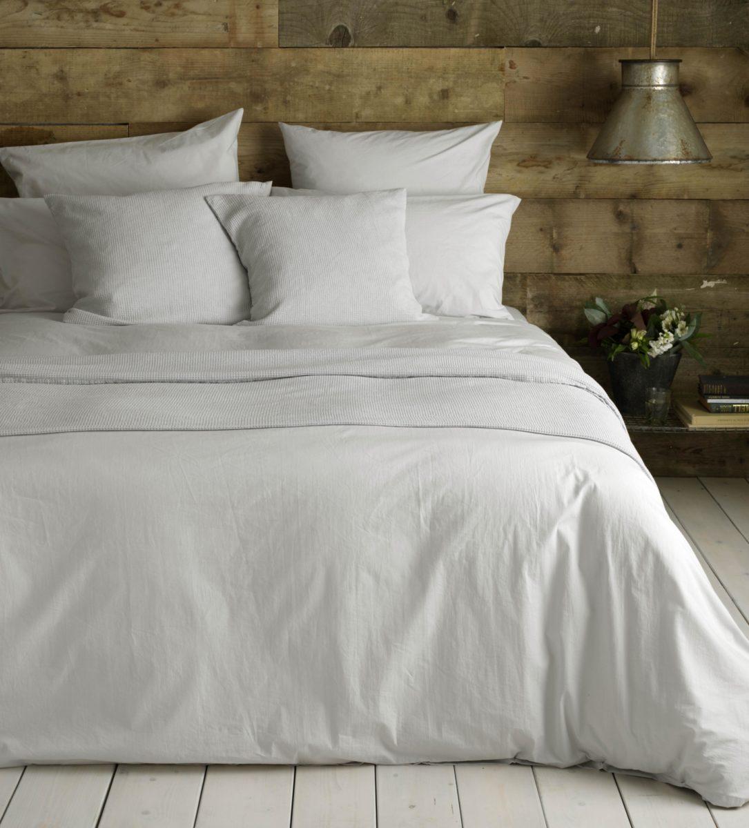 light grey cotton percale bed linen secret linen store
