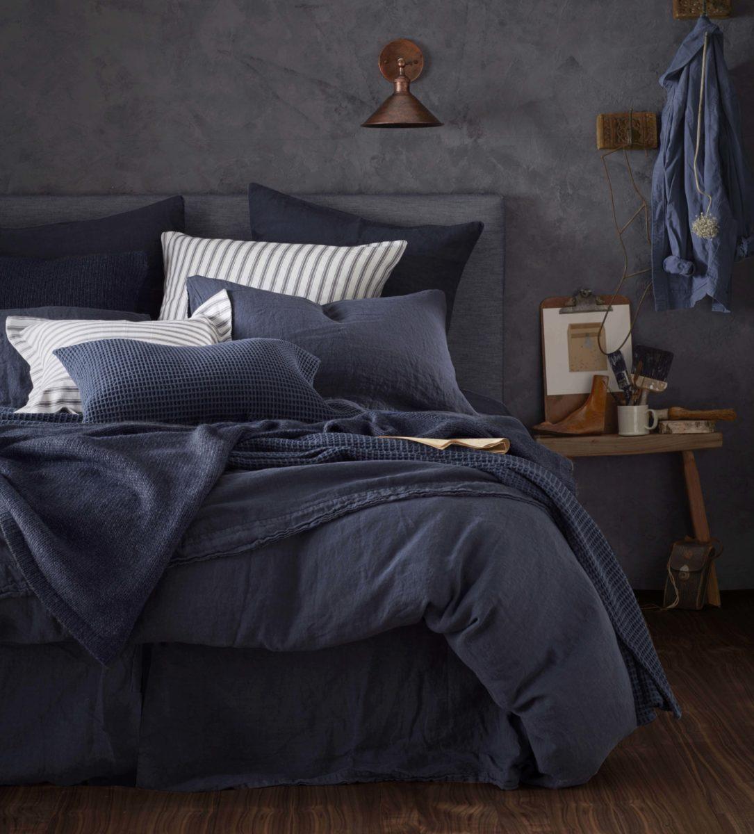 navy 100 linen duvet cover natural bedding secret linen store