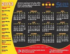 2013 Calendar - Warm Regards