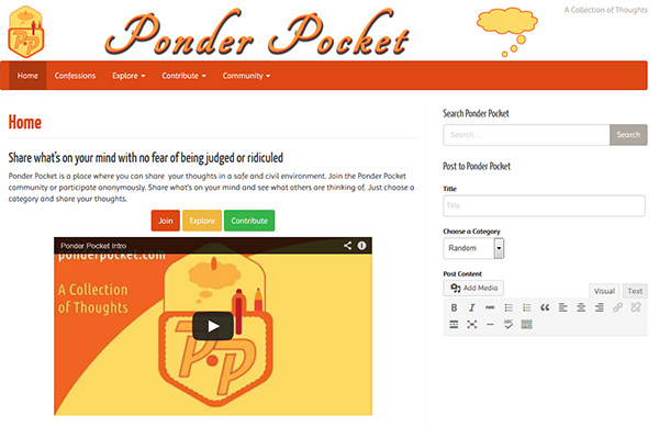 Ponder Pocket website