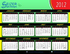 2012 Calendar 767
