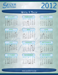 2012 Calendar Cool and Easy